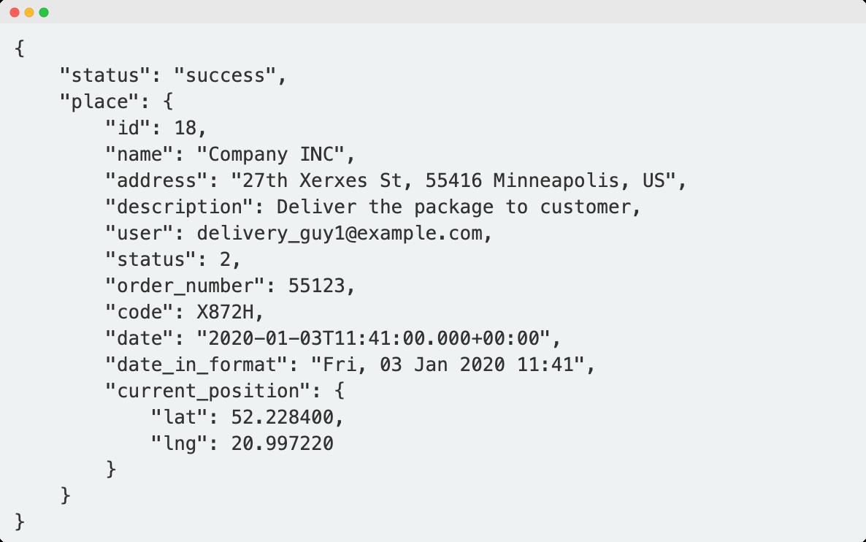Check API delivery status